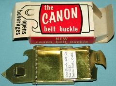 Buckle with P 38 C ration Opener   Church Key