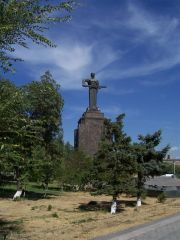 Mother Armenia statue in Yerevan