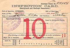 Inspection Card