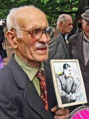 Old Vet With Stalin Image
