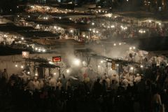 Night food market Morocco