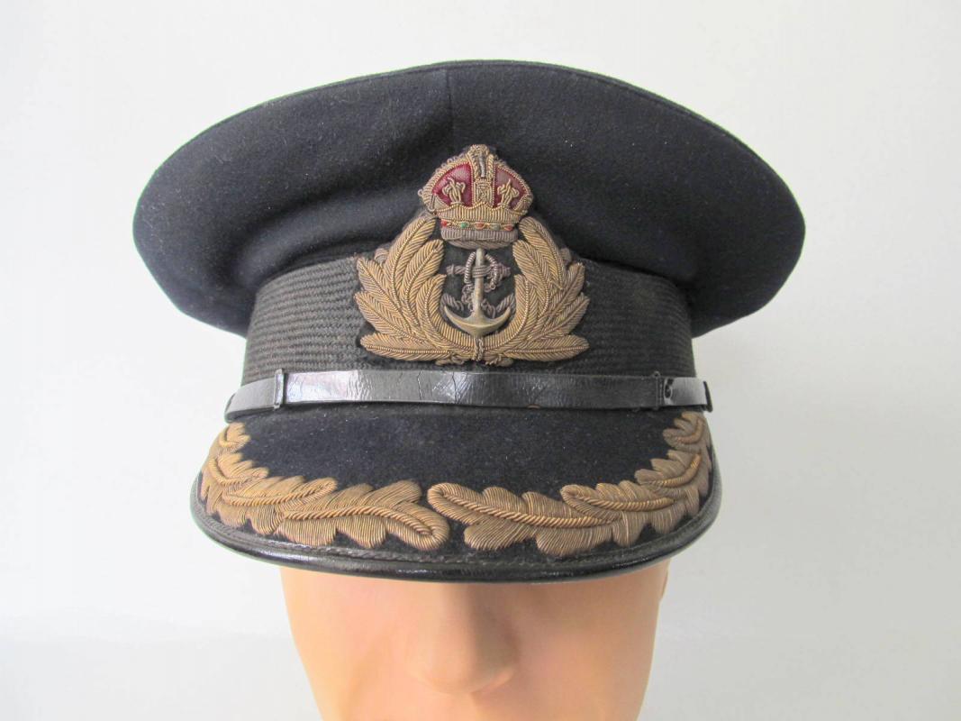 Wwii Era Royal Navy Senior Officer S Visor Cap Great