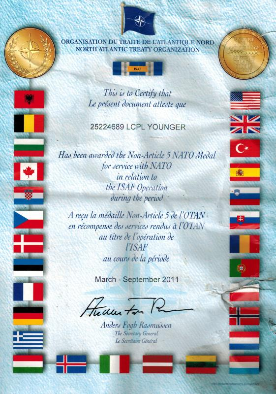Nato Artile 5 ISAF Document. - Great Britain: Orders ...