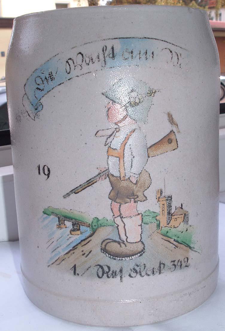 German WW2 Flak Beer Jug - Germany: Third Reich: Other