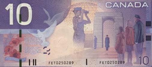 The veteran on Canada's 10 dollar bill - Armchair General ...