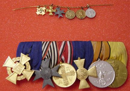 Front 40 year civil service Cross for war helpers Red cross Officers long service Olympic Centenar 1797 1897 for active military.jpg