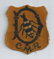 Cape Mounted Riflemen (CMR) Cloth Badge inherited from my Great Grampie Geoffrey O'Connell SCOTT.jpg