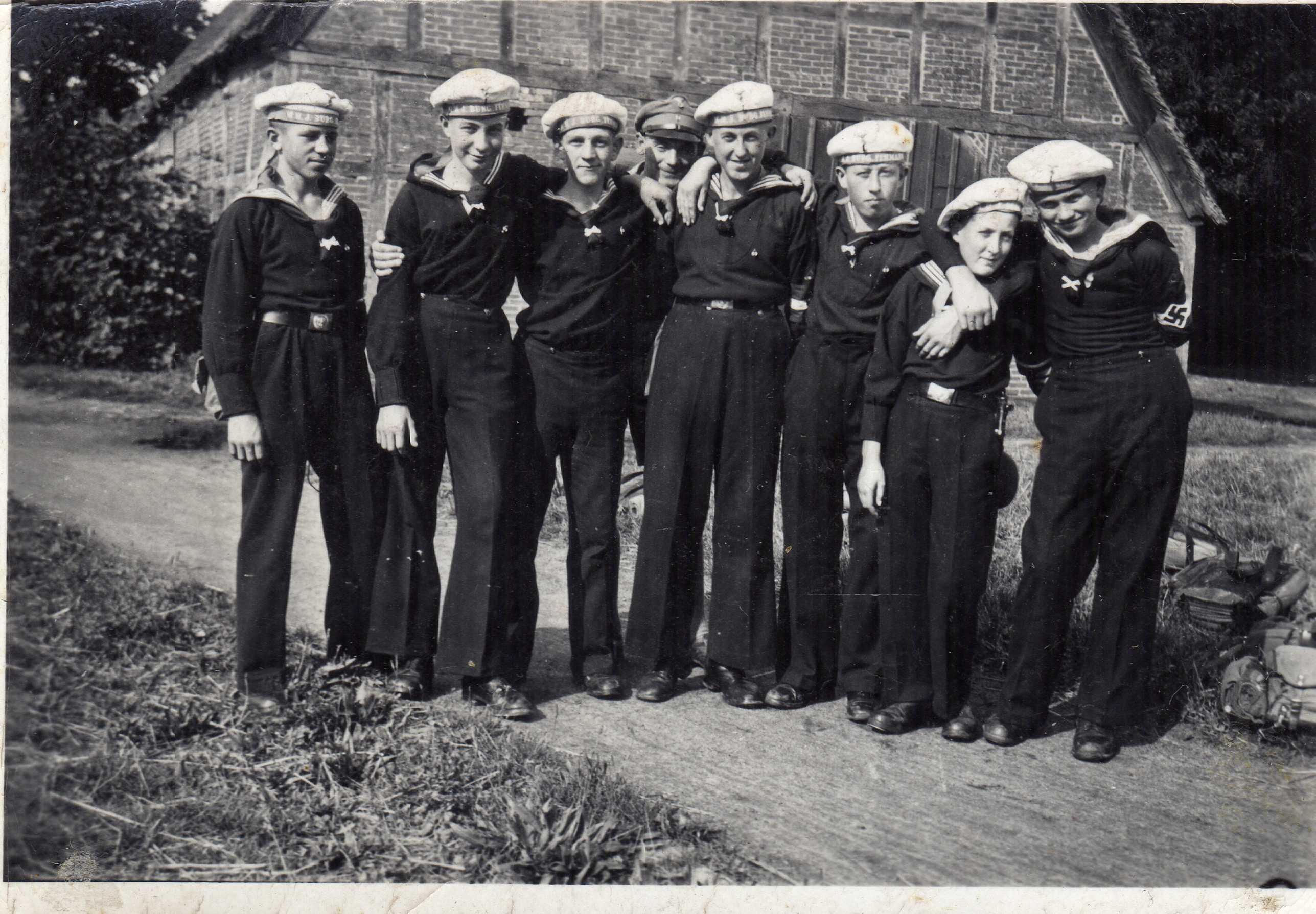 Hj Naval Marine Hj Cap Tallies Germany Third Reich