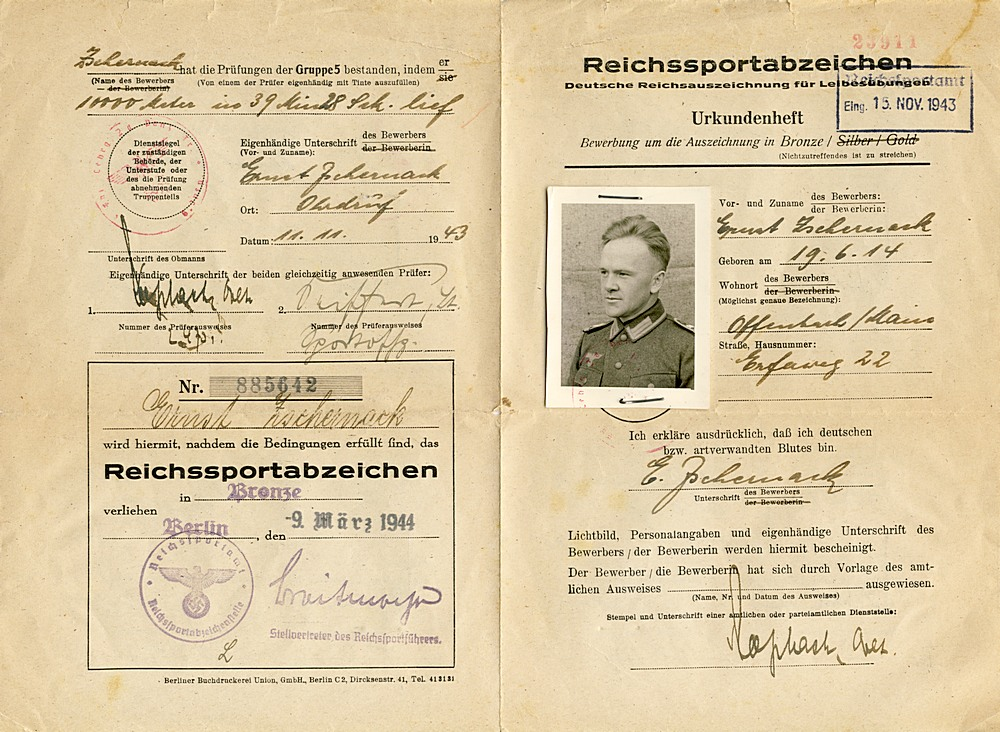 Citations - Sports Awards - Germany: Third Reich: Research