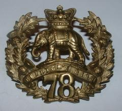 78th FOOT 1874-1881 GLENGARRY BADGE