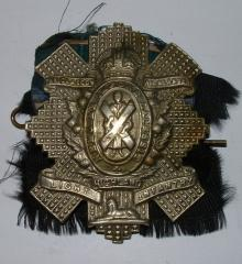 GLASGOW HIGHLANDERS GLENGARRY BADGE WW2