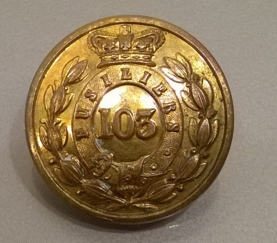 103rd Royal Bombay Fusiliers Fusiliers officers mess button.jpg