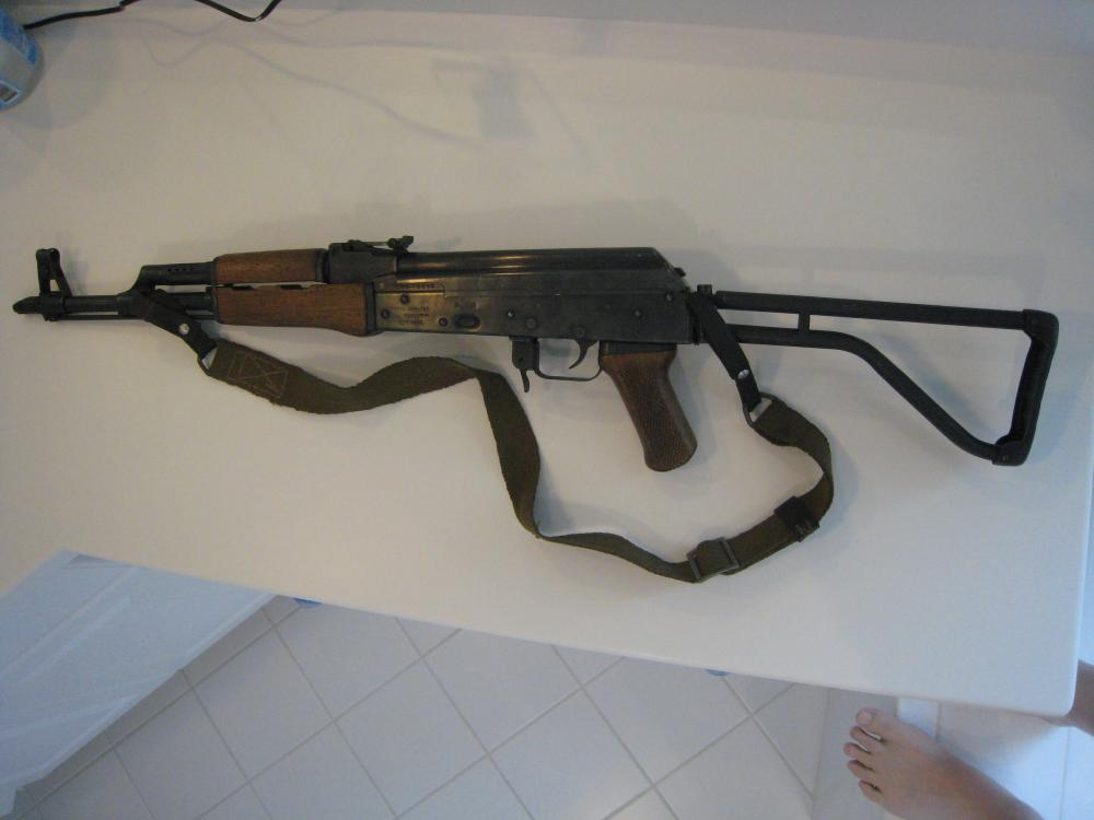 Norinco Type 56 (AK-47) Galil ser. no. CS - 05998, l. side stock extended.JPG