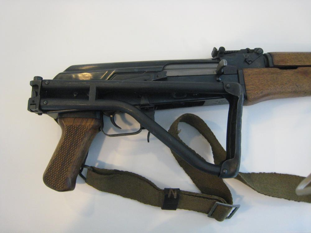 Norinco Type 56 (AK-47) Galil ser. no. CS - 05998, stock folded.JPG