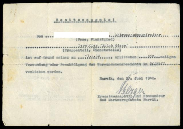 BZ Verwundetenabzeichen in Schwarz_Zerstörer Erich Giese.JPG