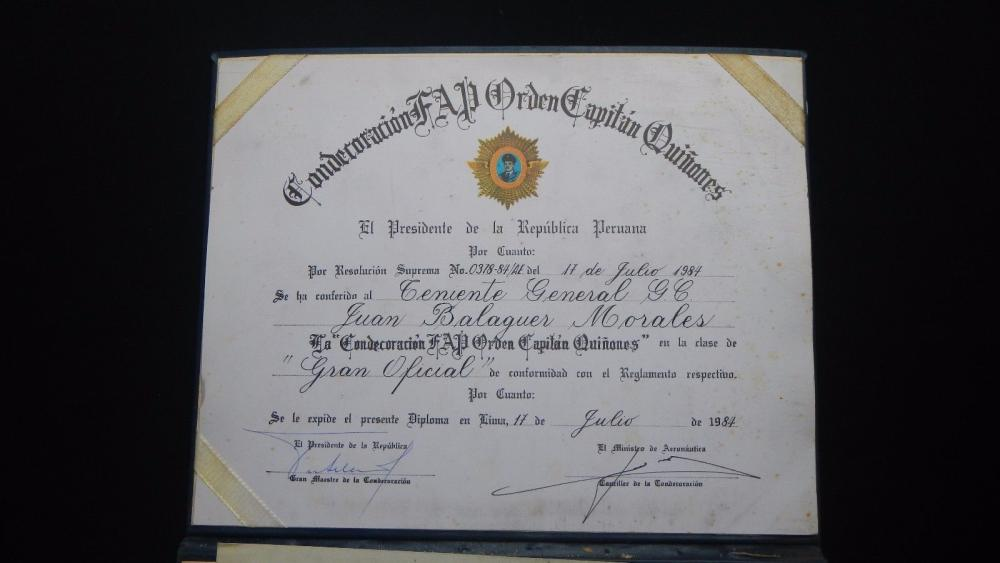 PERU DIPLOMA GRANTING THE AWARD ORDER CAPTAIN QUIÑONES.jpg