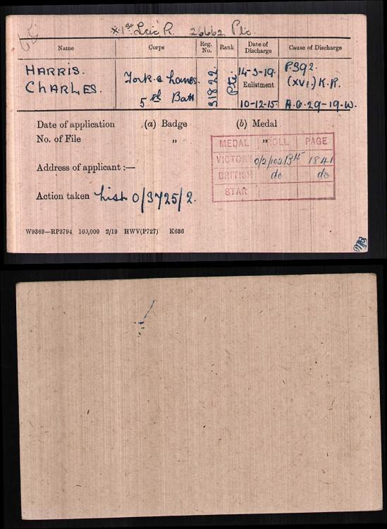 PTE Charles Harris -1st. Leicestershire Regiment MIC.jpg