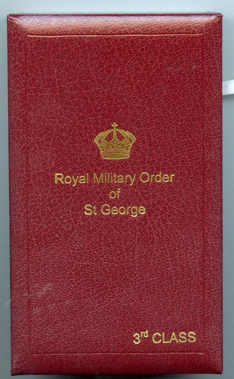 Tonga Order of St Georges 3rd Class neck badge case of issue.jpg