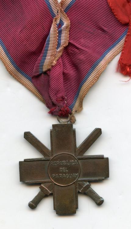 Paraguay Cruz del Chaco on neck ribbon reverse.jpg