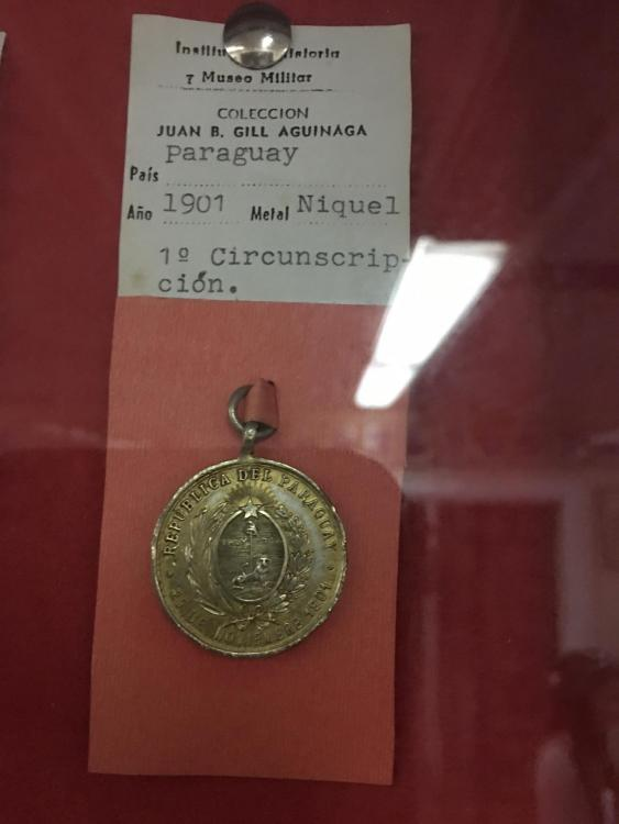 Paraguay MAP National Guard Medal in Museum.jpg