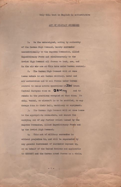 The German Surrender Agreement That Ended The Second World War