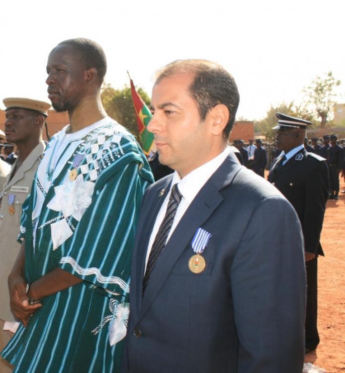 Burkina Faso Medaille d'Honneur de la Police to Pierre Michel Pons.jpg
