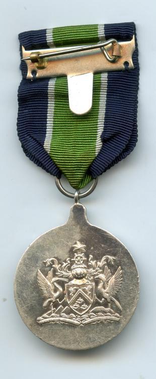Trinidad & Tobago Police LSGC Medal 1962-1976 reverse small size.jpg
