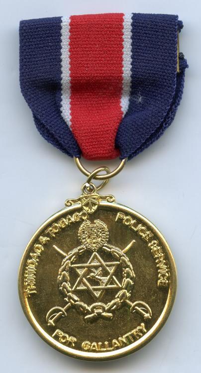 Trinidad & Tobago Police Gallantry Medal Post 1976 obverse.jpg