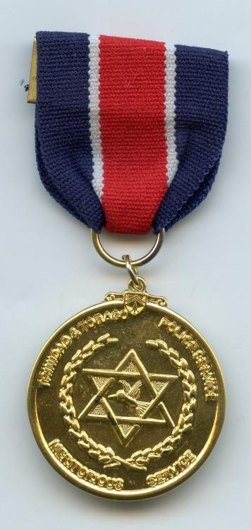 Trinidad & Tobago Police MSM Medal Post 1976 obverse.jpg