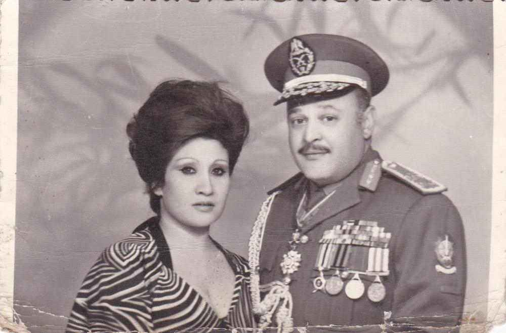 Air Defense MG with Wife 1970s.jpg