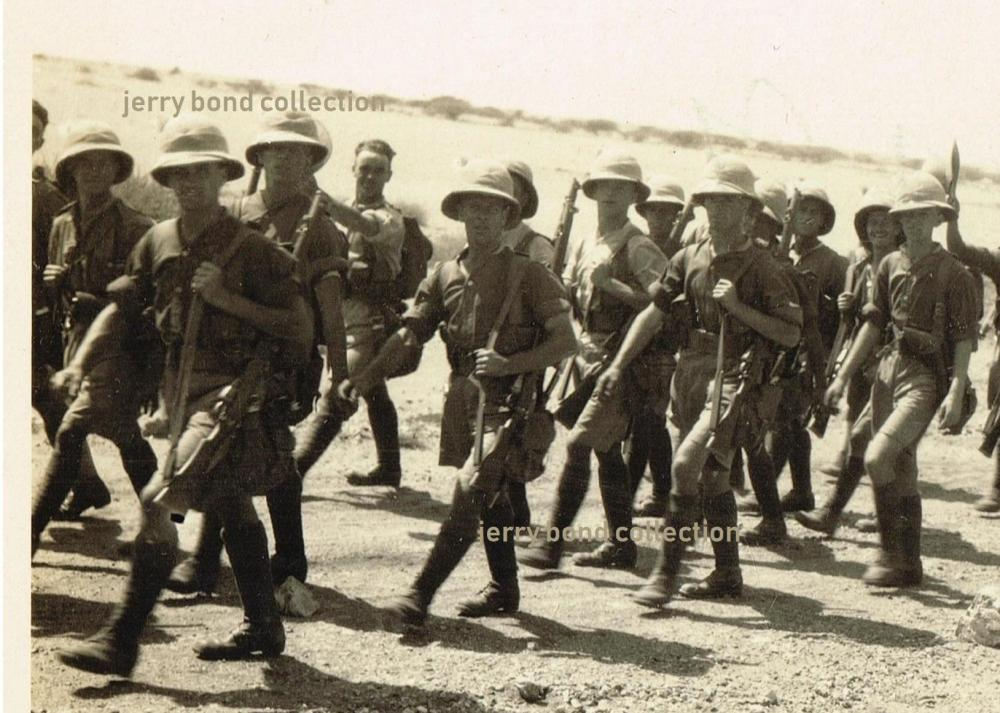 on the march to Jebel Aulia, Sudan 1932, RWF B company watermarked.jpg