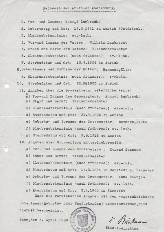 1936 KONRAD LAMBRECHT - ARYAN DOC.JPG