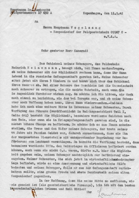 1942 LETTER ABOUT BROTHER IN LAW POW IN RUSSIA 1.JPG