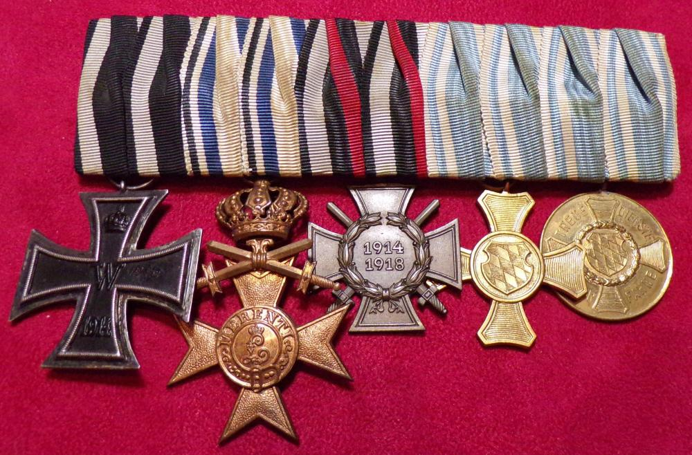 EK2, Bavarian Military Cross of Merit 4th Class, HK,15 Year Service Cross, 12 Year Service Medal- NCO a.JPG