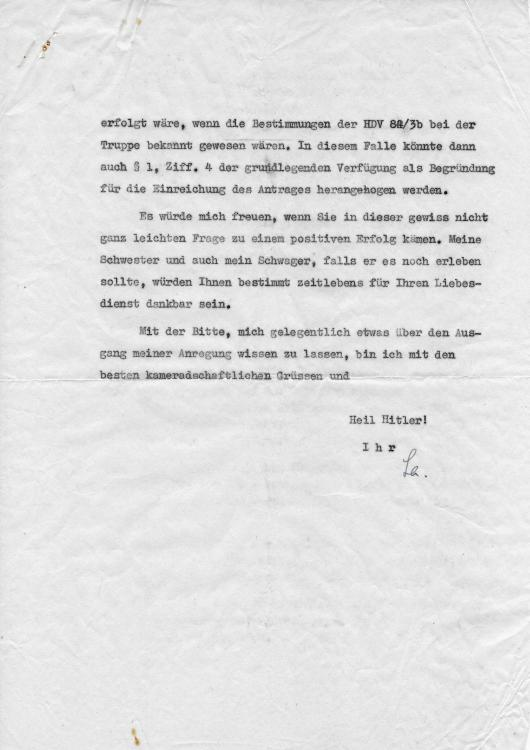 1942 LETTER REQUESTING BROTHER IN LAW POW BE PROMOTED TO LT. 2.JPG