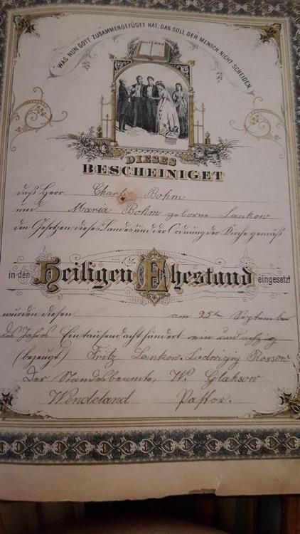 Bohm Lankow wedding record from bible.jpg