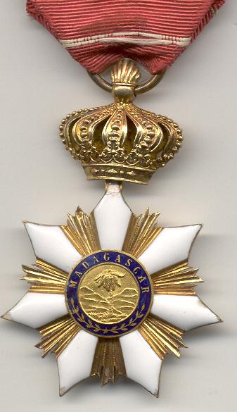 Madagascar Order of Radama Knight Type 1 reverse.jpg