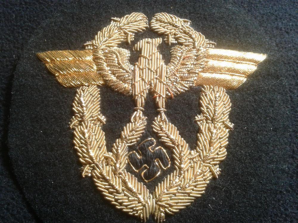 Wasserschützpolizei officer schirmmutze hand embroidered gold bullion insignia 2018-12-25 15.28 aa.jpg