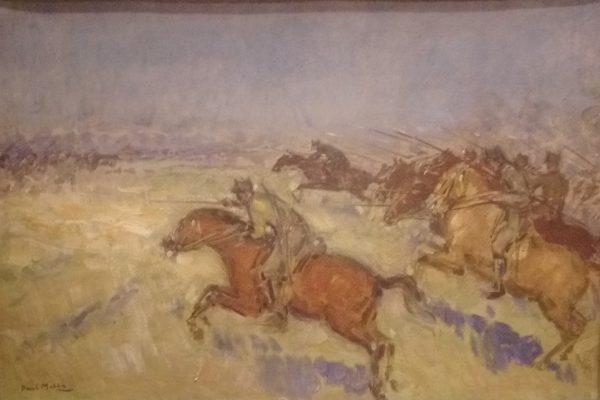 Paul-Molda-Popescu-Sarja-cavaleriei-romane-de-la-Robanesti-1916-ulei-pe-carton-Muzeul-de-Istorie-a-Romaniei-600x400.jpg