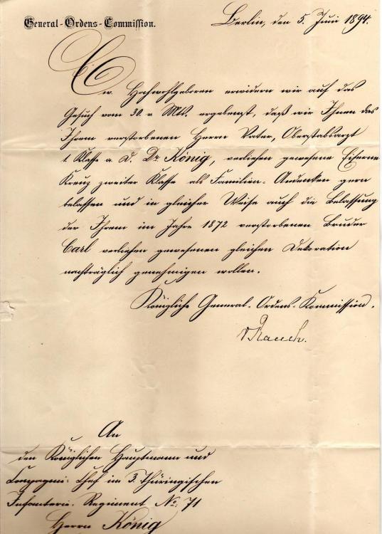 König Rückgabe  5. Juni 1894.jpg