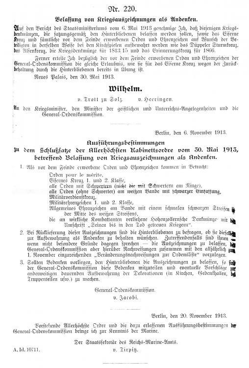 AKO Kriegsauszeichnungen 1913.JPG