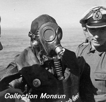 Image result for ww2 german u boat crew wearing GAS MASK