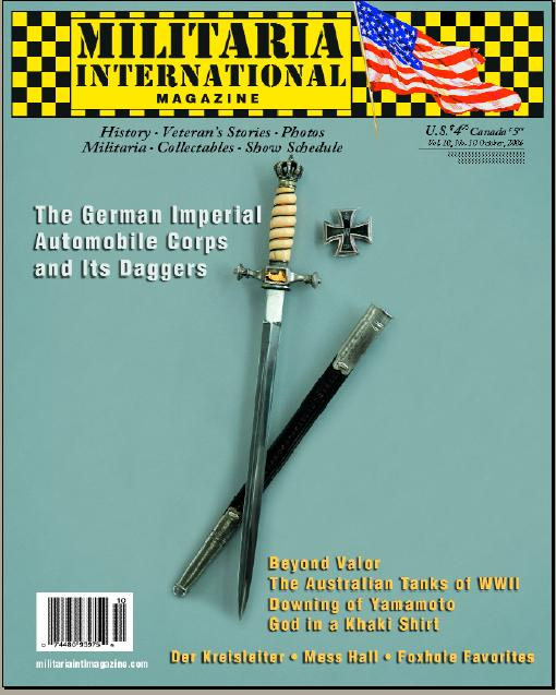 Max Show issue of Militaria International Magazine - Germany