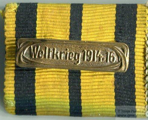 """Bar: """"Weltkrieg 1914-16."""""""