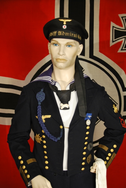 Panzerschiff Admiral Scheer Sailor in Parade Uniform.