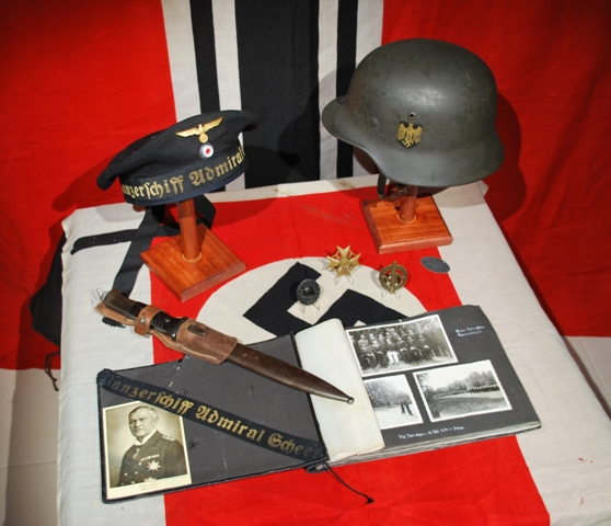 Panzerschiff Admrial Scheer Spanish Civil War Display.