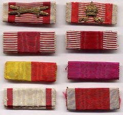 Ribbon Bars of Germany's Allies 1914-18 & 1939-45