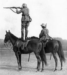 German soldier On horse