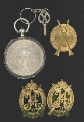 Imperial Russia   Shooting Badges & Award Pocketwatch