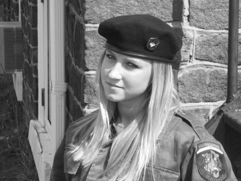 """Lena"" from the Serbian Volunteer Guard, Bosnia, Summer of 1992"